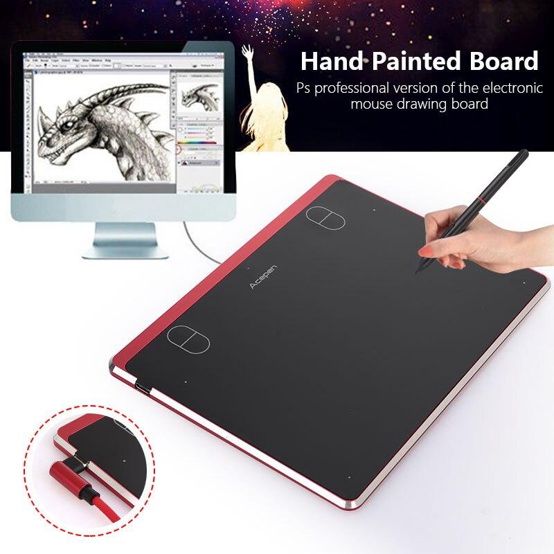 ACEPEN APE604 tablette numérique tablette graphique intelligente Pad 5080LPI en alliage d'aluminium graphique planche à dessin avec stylo de Style