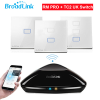 Broadlink RM PRO TC2 Touch Light Wall Switch 1 2 3Gang UK STD Smart Home Automation