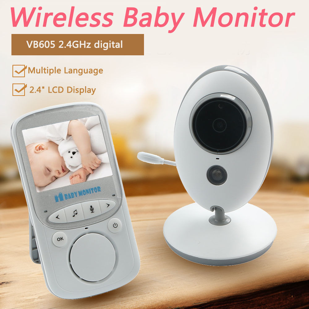 2 4 LCD 2 4GHz Wireless Video Baby Monitor Security Baby Camera 2 Way Talk Night