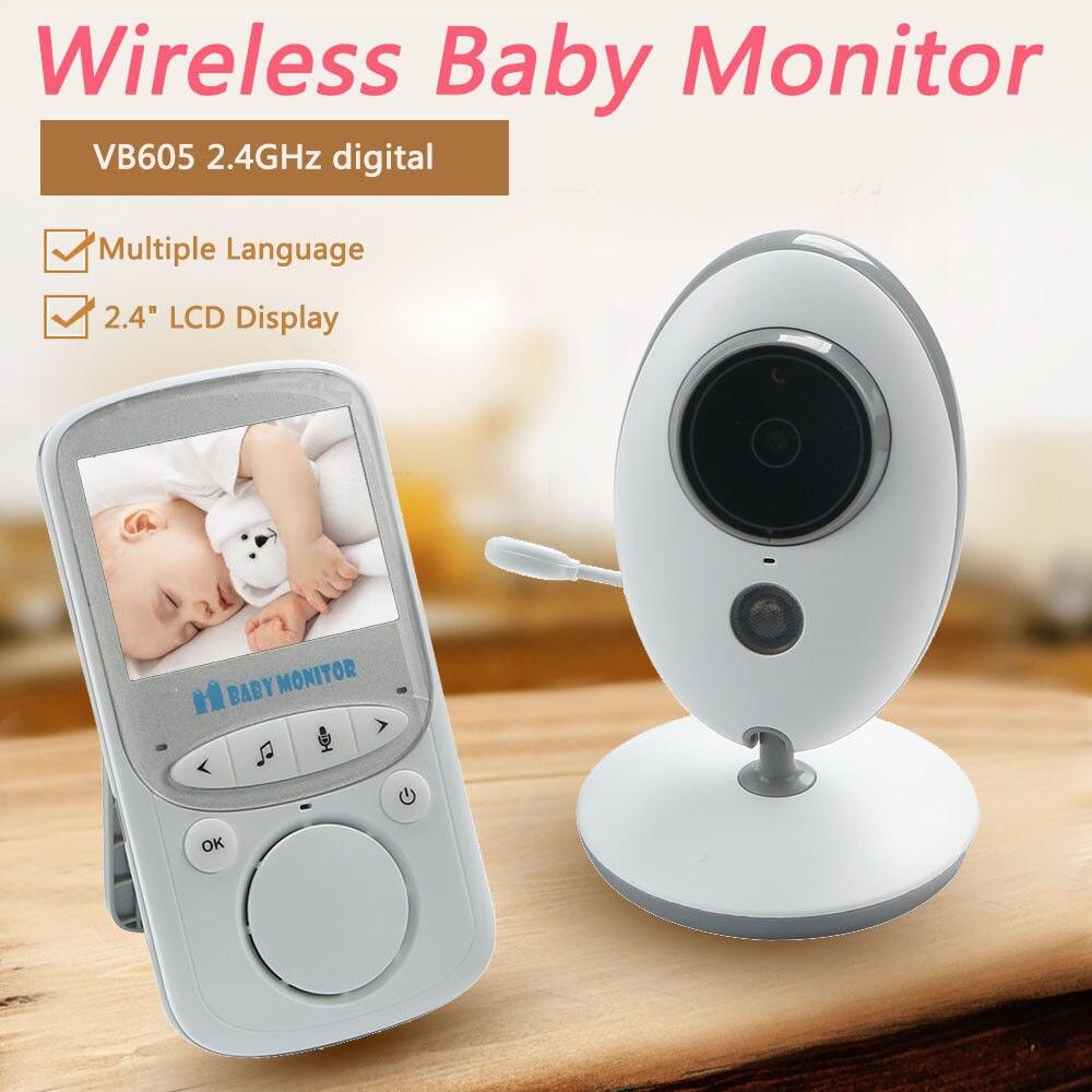 2.4 ''LCD 2.4GHz Draadloze Video Babyfoon Security Baby Camera 2 Weg Talk Nachtzicht IR LED Zoom huilen Temperatuur Monitor-in Baby Monitor van Veiligheid en bescherming op AliExpress - 11.11_Dubbel 11Vrijgezellendag 1
