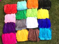 Wholesale 10 meter white goose feather stripe ribbon / dress skirt decoration / shawl / DIY feather accessories