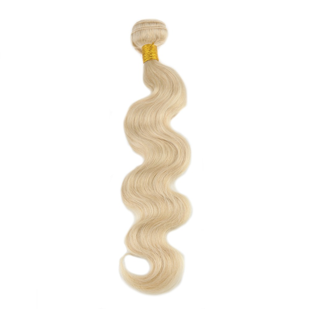 Full Shine Hair Bundle 100 Remy Human Hair Weft Weave Extension Body Wave Blonde Hair Color
