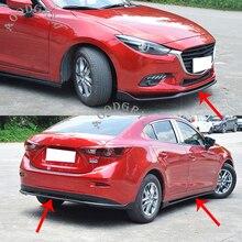 Автомобильный Стайлинг для Mazda 3 Axela sedan- передний комплект задней части кузова ПУ бампер спойлер и боковые юбки удлинитель разветвитель формы
