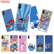 Disneys Stitchs Cute Silicome Phone Case For iPhone 7 8 6 6S Plus X 10 Ten 9 XS MAX XR 5 5S SE Art Customized Cover Cases Coque
