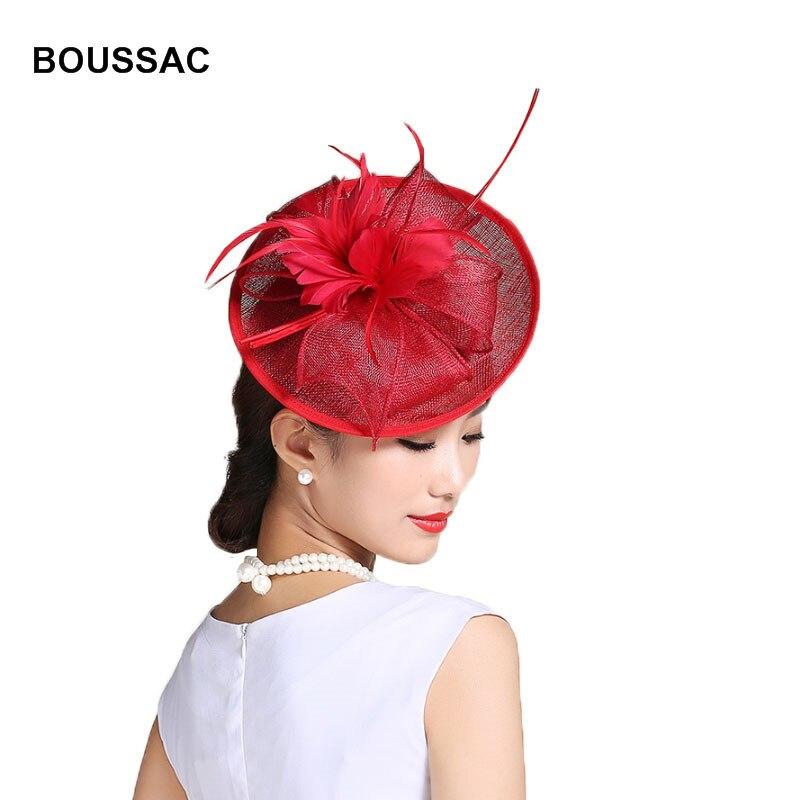 Accessoires de robe formelle cheveux Fascinator mariage Fedora chapeaux pour femmes élégant Kenducky pilulier chapeau course Feater été chapeaux