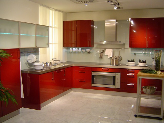 Custom American Solid Wood Kitchen Cabinet Lacquer Modern Design In Excellent