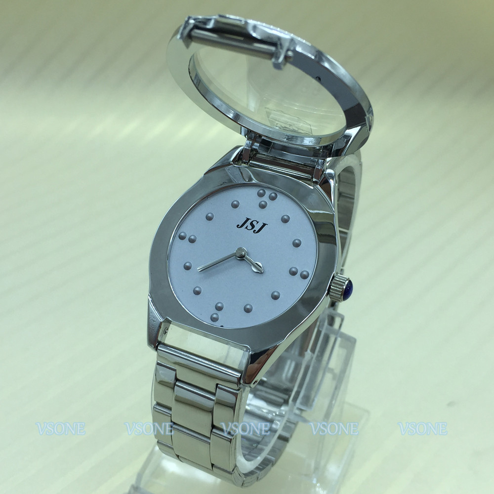 цена Tactile Braille Watch for Blind People or the Elderly Grey Dial (for man)