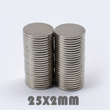 где купить 5/10/30pcs 25x2 mm Super Powerful Neodymium Magnets Free Shipping N35 25*2 mm Rare Earth Magnet Neodymium Magnets For Crafts дешево