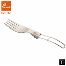 цена на Fire Maple Folding Fork Outdoor Lightweight Portable Climbing Trip Travel Titanium Folding Pucker Fork  Crockery Tourism FMT-12