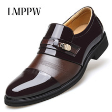 купить British Style Men Dress Shoes Leather Black Brown Oxford Shoes Business Formal Flat Shoes Pointed Lace Up Men Leather Shoes по цене 2220.97 рублей