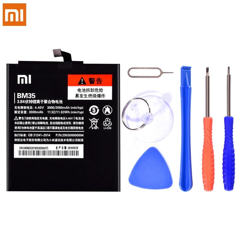 BM35 Батарея для Xiaomi Mi 4c Mi4C 3000 мАч 3080 мАч Замена Оригинальный литий-полимерная Батарея мобильный телефон Bateria бесплатная инструменты