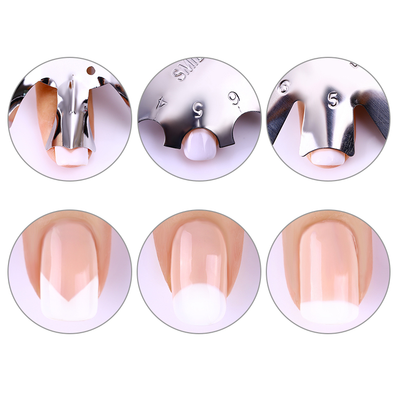 Easy French Line Edge Nail Tool Smile Cutter Nail Stencil Edge Trimmer Multi-size Nail Manicure Nail Art Styling Tool Set nail tips art the edge cutter black