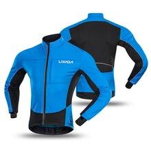 Lixada Мужская ветрозащитная велосипедная куртка одежда для бега спортивная куртка пальто Зимний теплый флис MTB езда на велосипеде