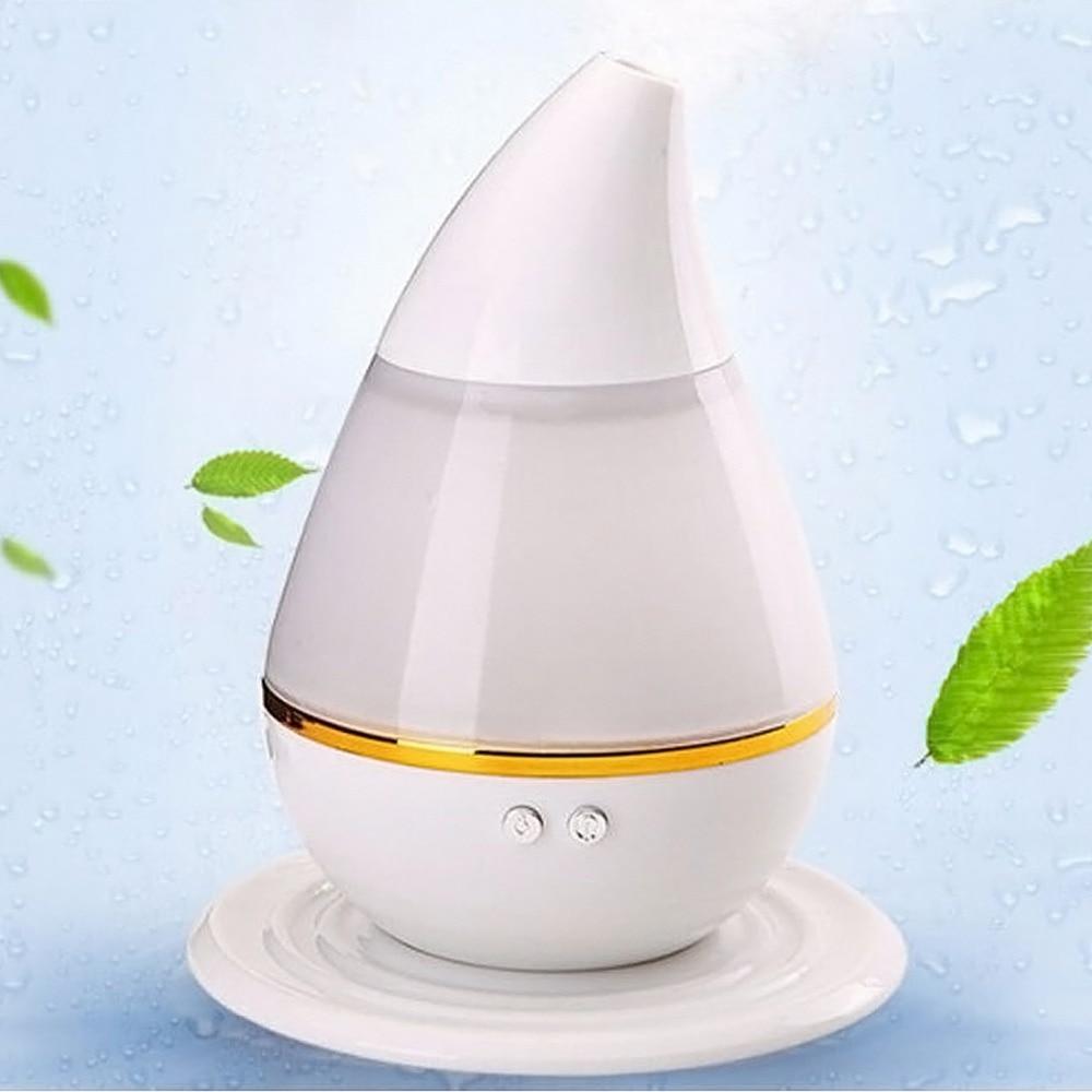 Mini Ultrasonic Home Office Humidifier Waterdrop LED Light Air Diffuser Purifier Atomizer USB Power Aroma Air Moist Moisture