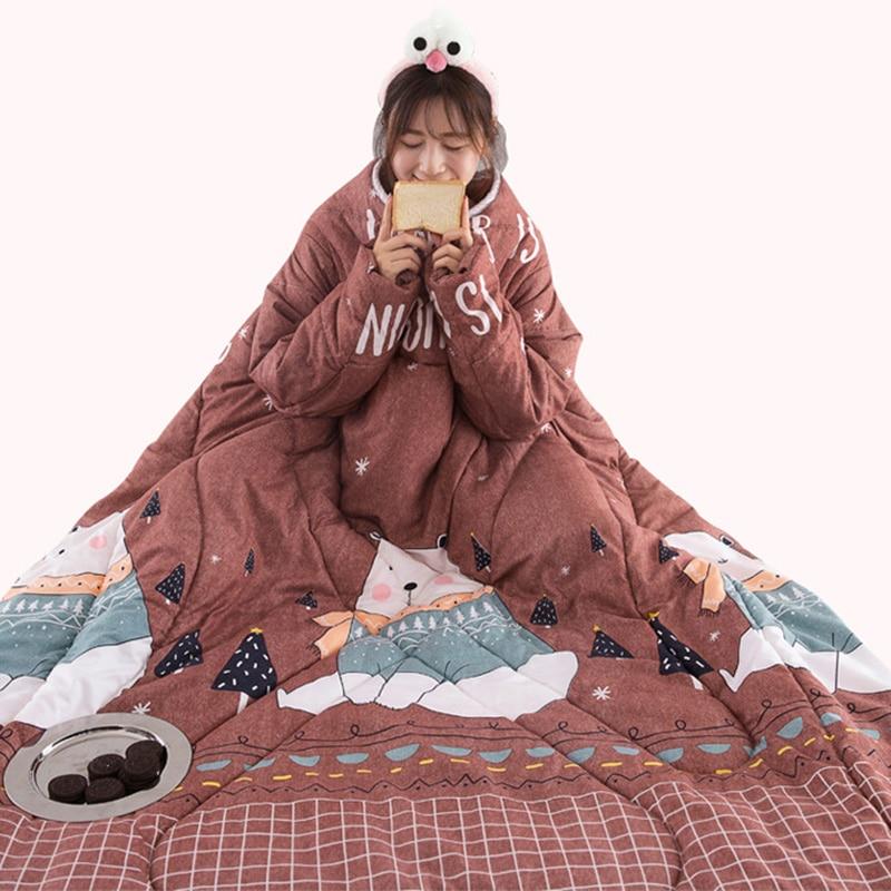 Couette paresseux avec manches couverture Cape Cape Cape sieste couverture dortoir manteau 150x200cm TB vente