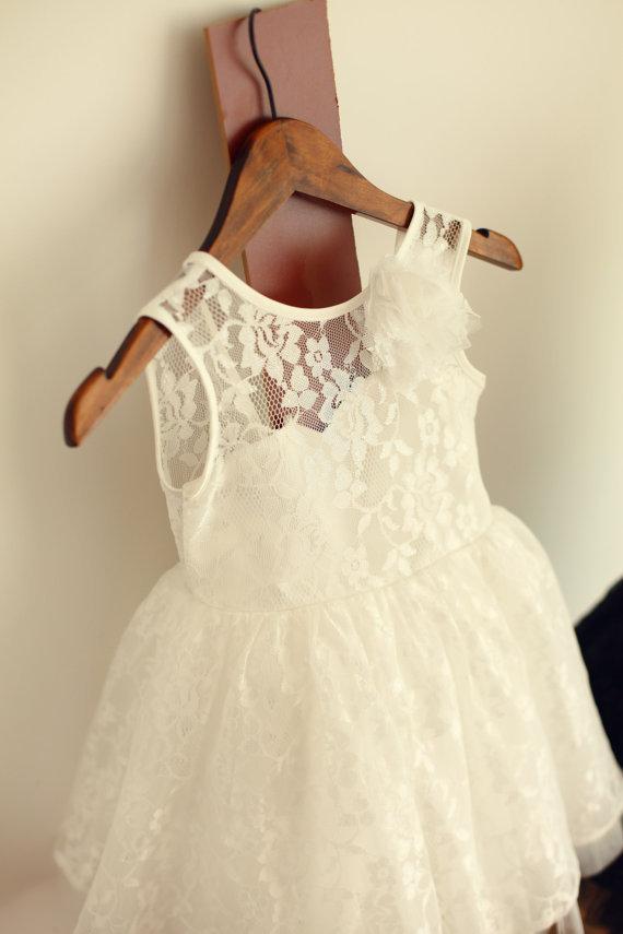 Popular Toddler Flower Girl Dresses Ivory-Buy Cheap Toddler Flower ...