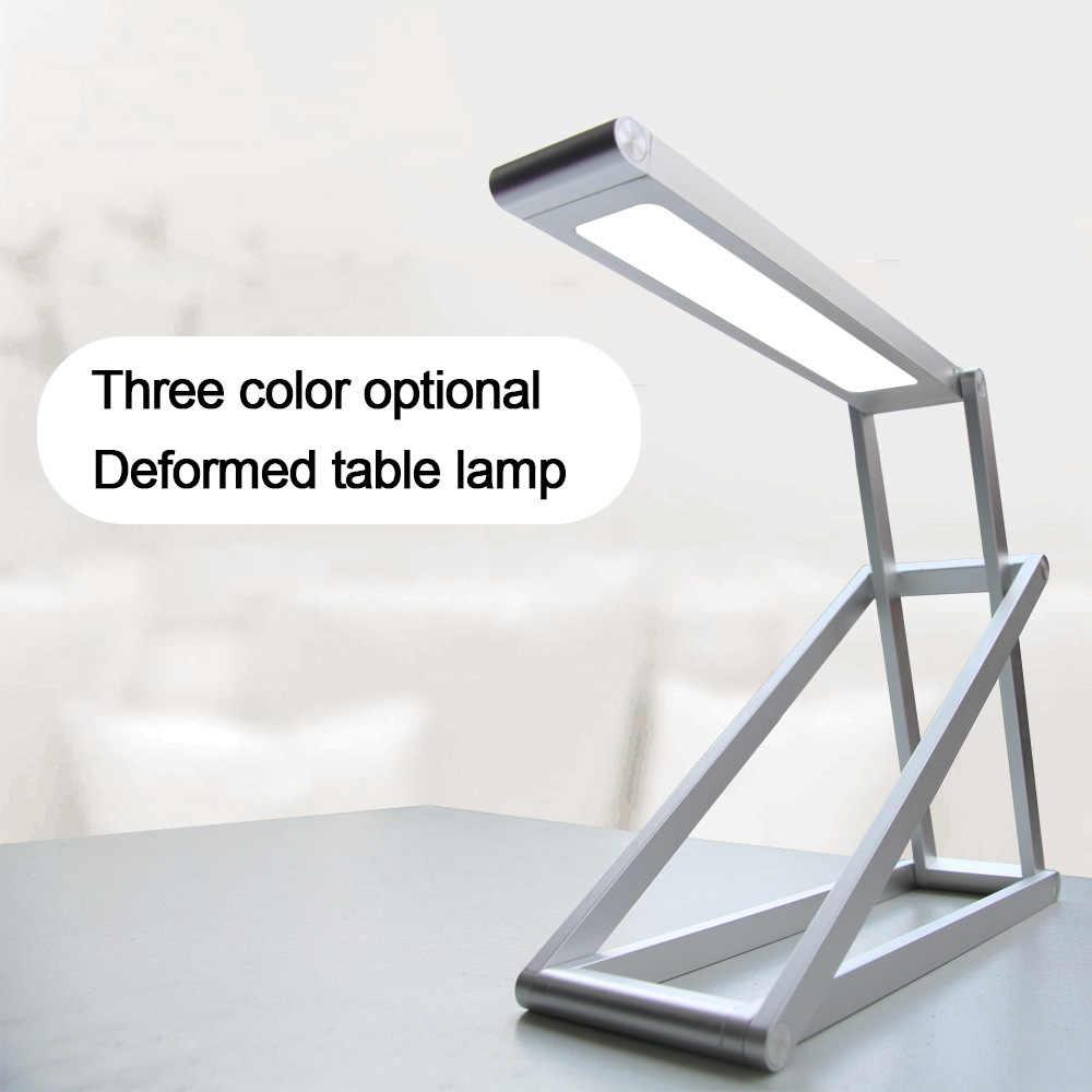 Настольная лампа, защита глаз, светодиодный, изменяемый, складной светильник, для учебы, колледжа, студентов, небольшого общежития, спальни, прикроватный, Креативный светодиодный светильник