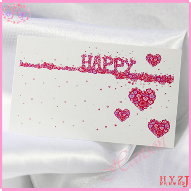 Fashion promotion gift personalized small message card birthday fashion promotion gift personalized small message card birthday wishes wedding greeting card pv16 m4hsunfo