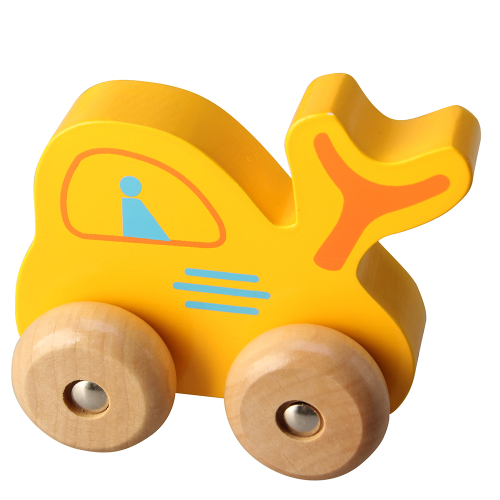 1 Pc Colorful Wooden Mini Car Vehicle Toy Car Kids Model Baby Kids Car Wood Educational Gift 4 Wood Wheel