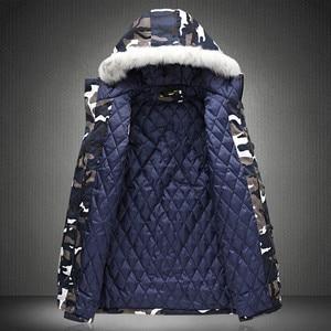 Image 5 - 冬のジャケットの男性 2020 ホット販売迷彩軍厚く暖かいコートの男性のパーカーコート男性のファッションフード付きパーカー男性 m 4XL プラスサイズ