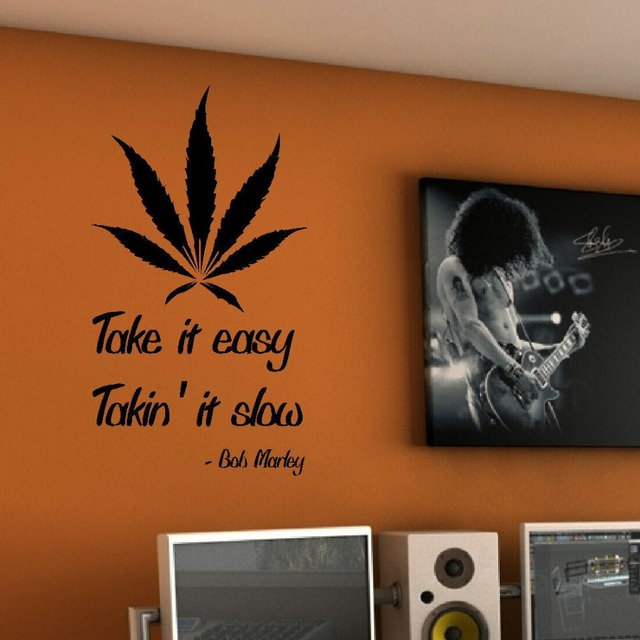 QUOTE BOB MARLEY TAKE EASY WALL STICKER GRAPHIC DECAL MATT VINYL - How to make vinyl wall decals at home