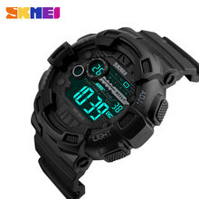 SKMEI Men Sports Watches 50M Waterproof Back Light LED Digital Watch