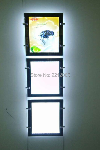 (Pack/3units) A3 Double Sided Display Magnetic Front Pane,Wire Cable Real Estate Window Displays for Retailstore,Shopping Mall