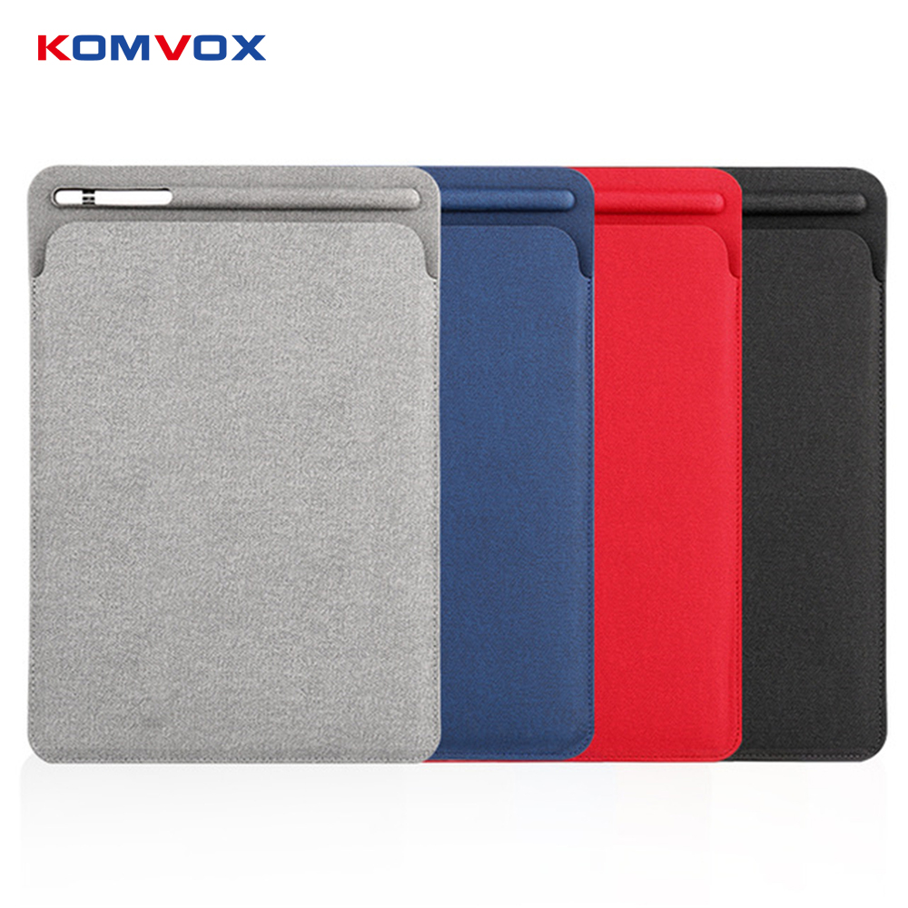 Luxury PU Leather Sleeve Case for iPad Pro 10.5 Pouch Bag Cover with Pencil Slot for iPad Pro 10.5 Leather Protective Bag Case цена