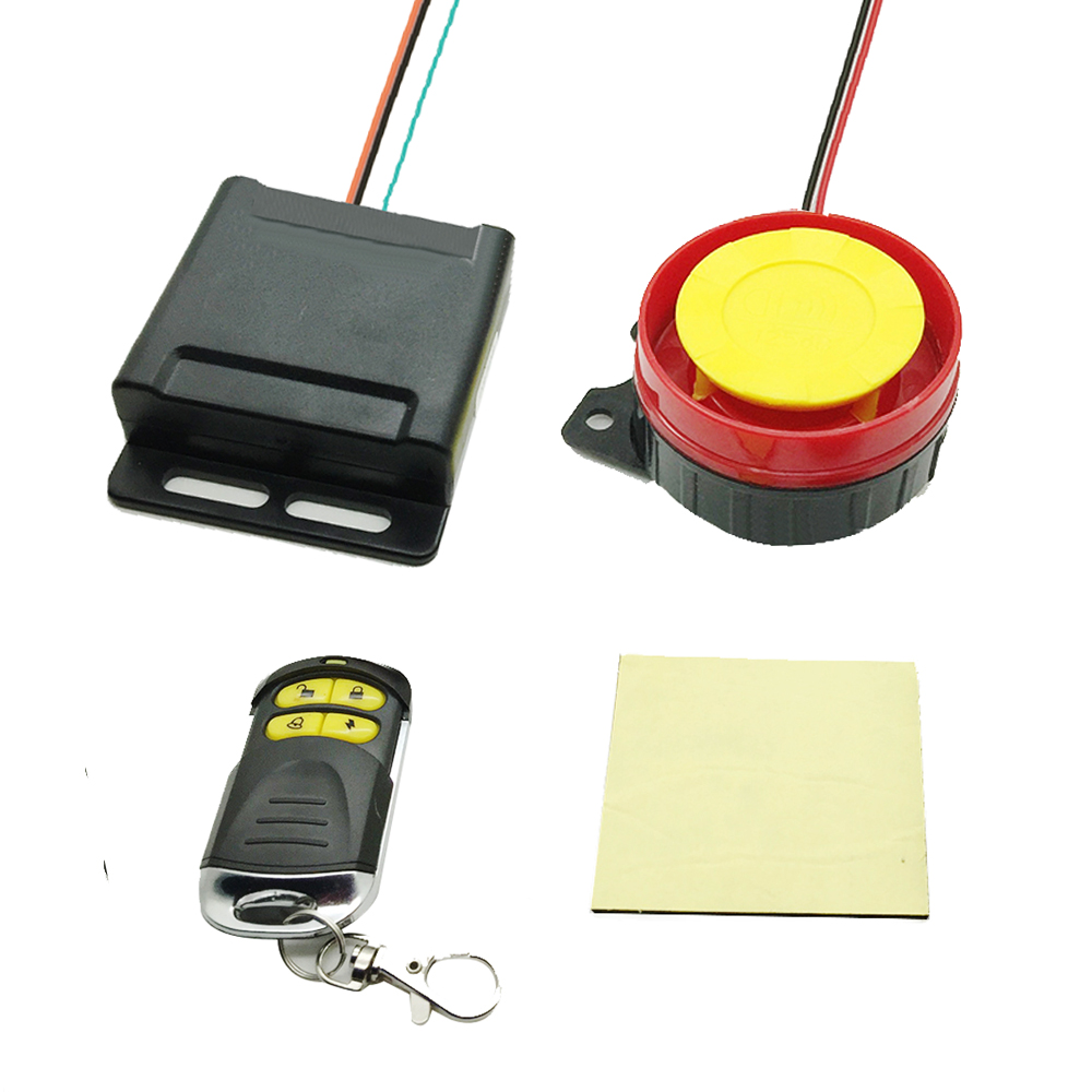 EAFC 12V Scooter Car Motorcycle Alarm System Lock Motorbike Anti Theft Horn Alarm Warner Security System With Remote Control