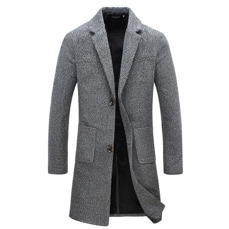2016 New Arrival Brand Winter Warm Men Coat Fashion Wool Blend Overcoat For Men Casual Quality