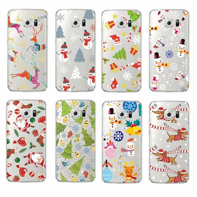 TOMOCOMO Christmas Tree Santa Claus Snowman Gift Soft Clear Phone Case Cover Fundas Coque For SAMSUNG Galaxy S9 S7 Edge J5 2017