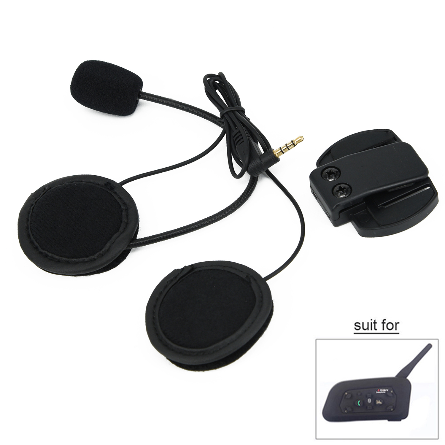 Speaker Headphone Earphone Helmet Headset V6&V4 Motorcycle Holder Sale Ideal Gift	black ABS 1.73 inch