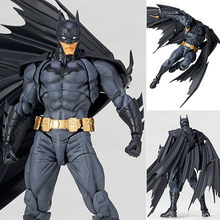 Filme anime figura Revoltech de Super-heróis da DC Comics Liga Da Justiça Batman PVC Action Figure Collectible Modelo Toy marvel(China)