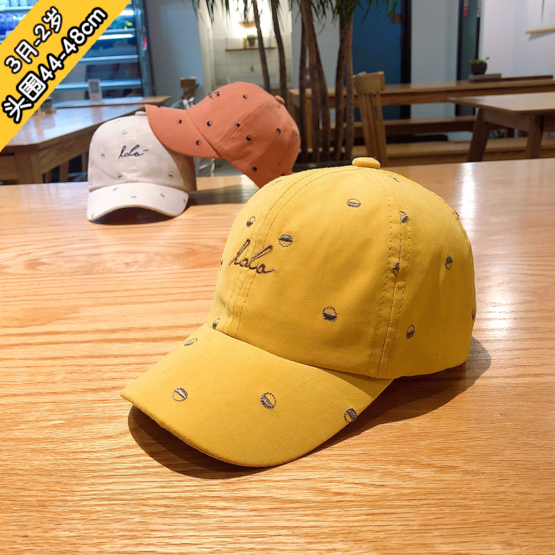 1 to 2 years old new children hat baby outdoor sunshade cap children baseball cap embroidery letters baby causal hats XA 234 in Hats Caps from Mother Kids