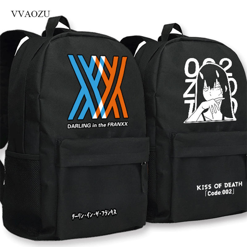 Darling in the FranXX Laptop Backpack Anime DitF ZERO TWO Cosplay Oxford School Bags Mochila Travel Knapsack Shoulder BagDarling in the FranXX Laptop Backpack Anime DitF ZERO TWO Cosplay Oxford School Bags Mochila Travel Knapsack Shoulder Bag