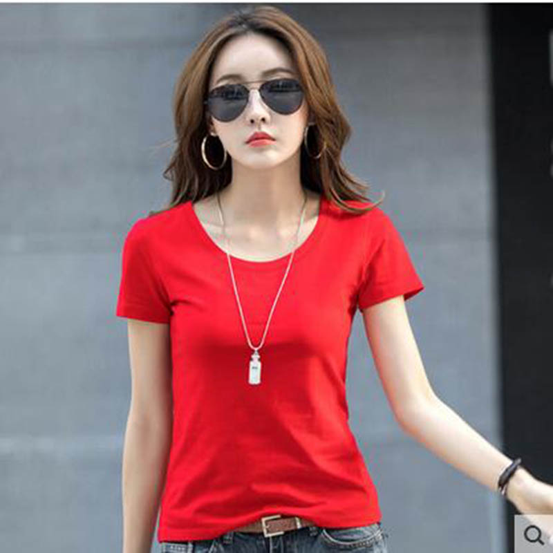 2017 Summer Style Ladies Casual Under Shirt Womens T Shirt Roupas Femininas Short Sleeve Tshirt T