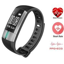 ECG+PPG Monitoring Well being Good Bracelet Health Exercise Tracker Blood Stress Wristband Coronary heart Charge Good Band VS Y2 Plus