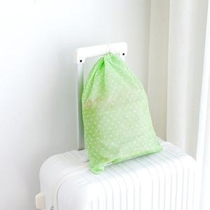 Image 4 - 1 個防水不織布コンテナオーガナイザー靴布収納袋旅行巾着バッグ布下着靴バッグ
