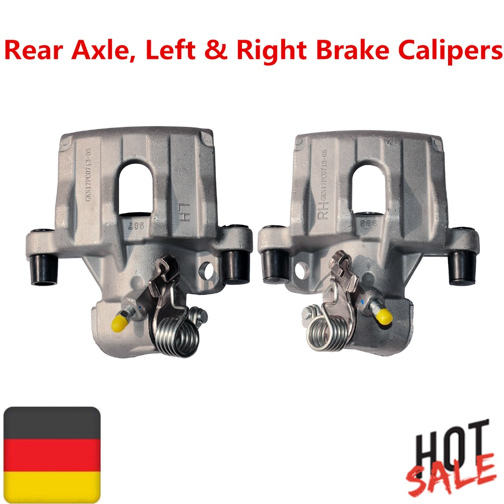 1 Pair Rear Axle, Left & Right Brake Calipers For Ford C-Max Focus 2/Isuzu Impulse/Mazda 3/Volvo C3O C70 S40 2 V50 1 pair left