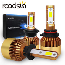 roadsun H7 H4 LED Headlight Bulb Kit 6000K 60W 12V 8000LM H3 H11 H1 H8 H9 9005 9006 LED Car Light Bead Automobile Accessories(China)