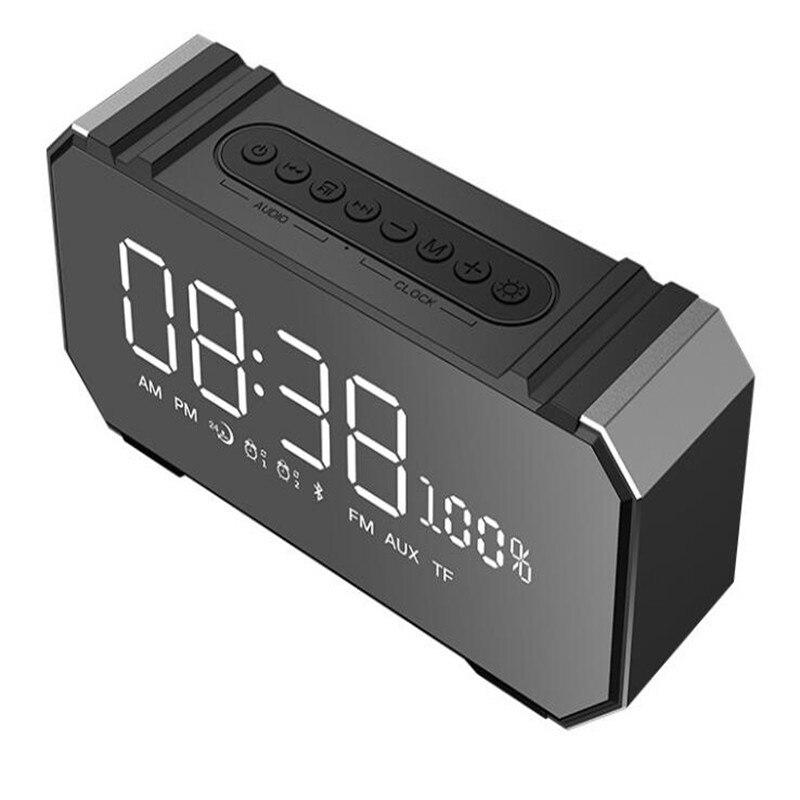 Portable Radios Pocket 20W Speaker Active Bluetooth Music Box Mini Acoustics FM Clock LCD Alarm Music System Stereo Receiver стоимость