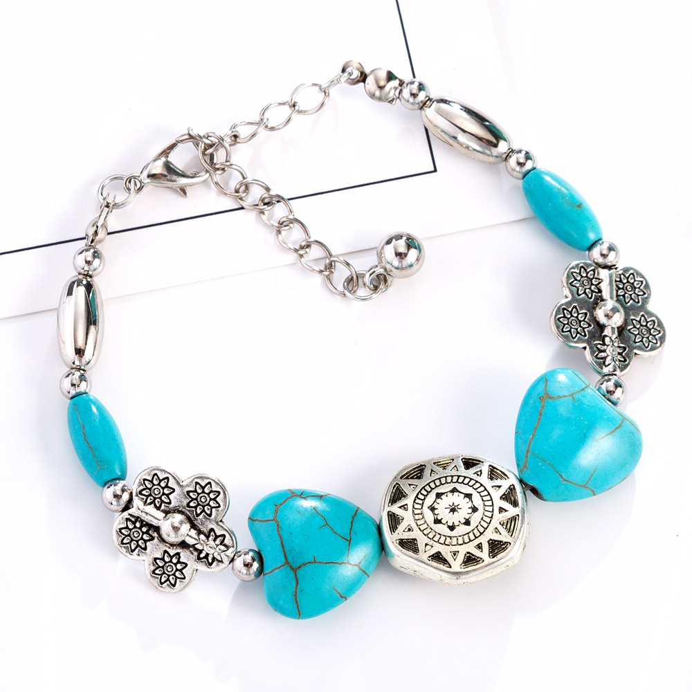 WNGMNGL 2018 New Female Vintage Bracelet Bohemia Elegant Summer Beach Beaded Bracelet For Women Charm Statement Fashion Jewelry