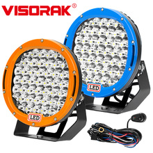 "VISORAK 9"" 225W Offroad LED Work Light 4x4 ATV For Jeep 4WD Truck Vehicles SUV Off-road"