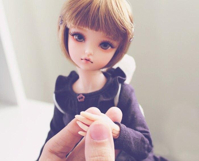 Oyuncaklar ve Hobi Ürünleri'ten Bebekler'de HeHeBJD Marka new1/4 bjd kız bebek bjd ücretsiz gözler ücretsiz kargo en iyi değer moda bebek çocuk kız vücut'da  Grup 1