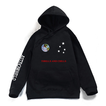 Astroworld THRILLS AND CHILLS Hoodies Spring Autumn Streetwear Pullover Travis Scotts Young Men Women FashionHip Hop Printing 1
