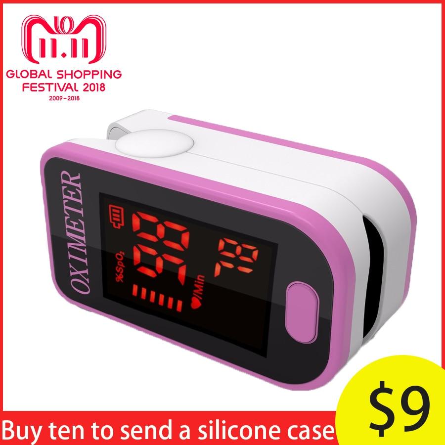 PRO-F4 Puls Herz Rate Blut Sauerstoff SPO2 Sättigung Monitor, top Sport Täglichen System Finger-pulsoximeter Tester-Nette Rosa