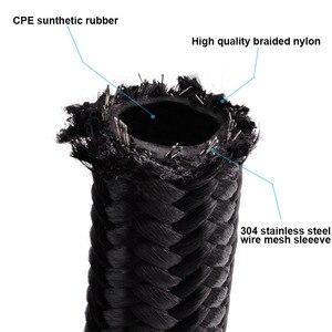 Image 2 - ESPEEDER manguera de combustible de aceite Universal 10 pies AN10, manguera de nailon trenzada negra, tubo de manguera de aceite, manguera de carreras negra de 3 metros