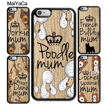 MaiYaCa Yorkshire terrier mum yorki Poodle French bulldog Case For iphone XR XS MAX 11 Pro X 6 6S 7 8 Plus 5 5S Cover Shell