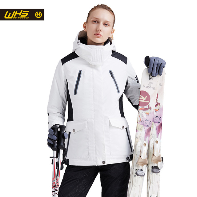 WHS New Couple Skiing Jacket Winter Outdoor Snow Cotton Sportswear women & men Warm Coat Waterproof and Windproof Jacket