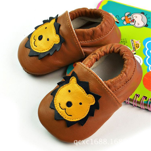 2017 New cartoon Genuine Leather Baby Moccasin Soft Soled Baby Boy Shoes Newborn Infant Children Pre-walker Free Shipping